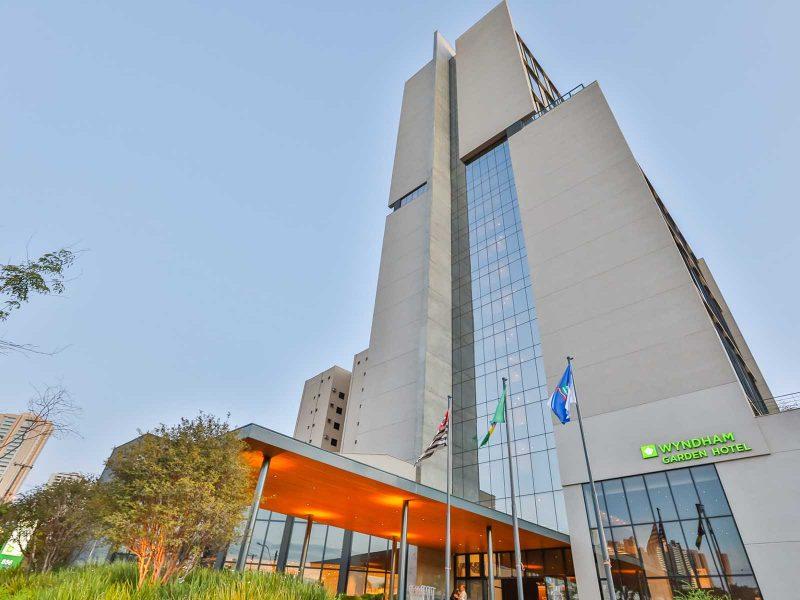 Wyndham Ribeirão Preto - Foto aérea hotel fachada